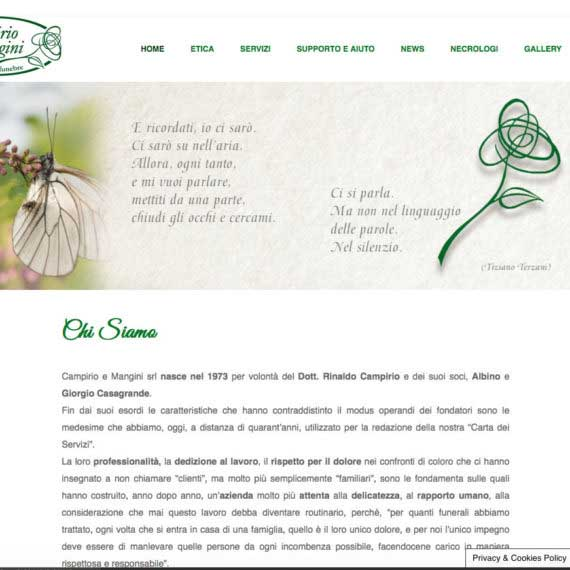 Tre Art web agency progetto Campirio e Mangini