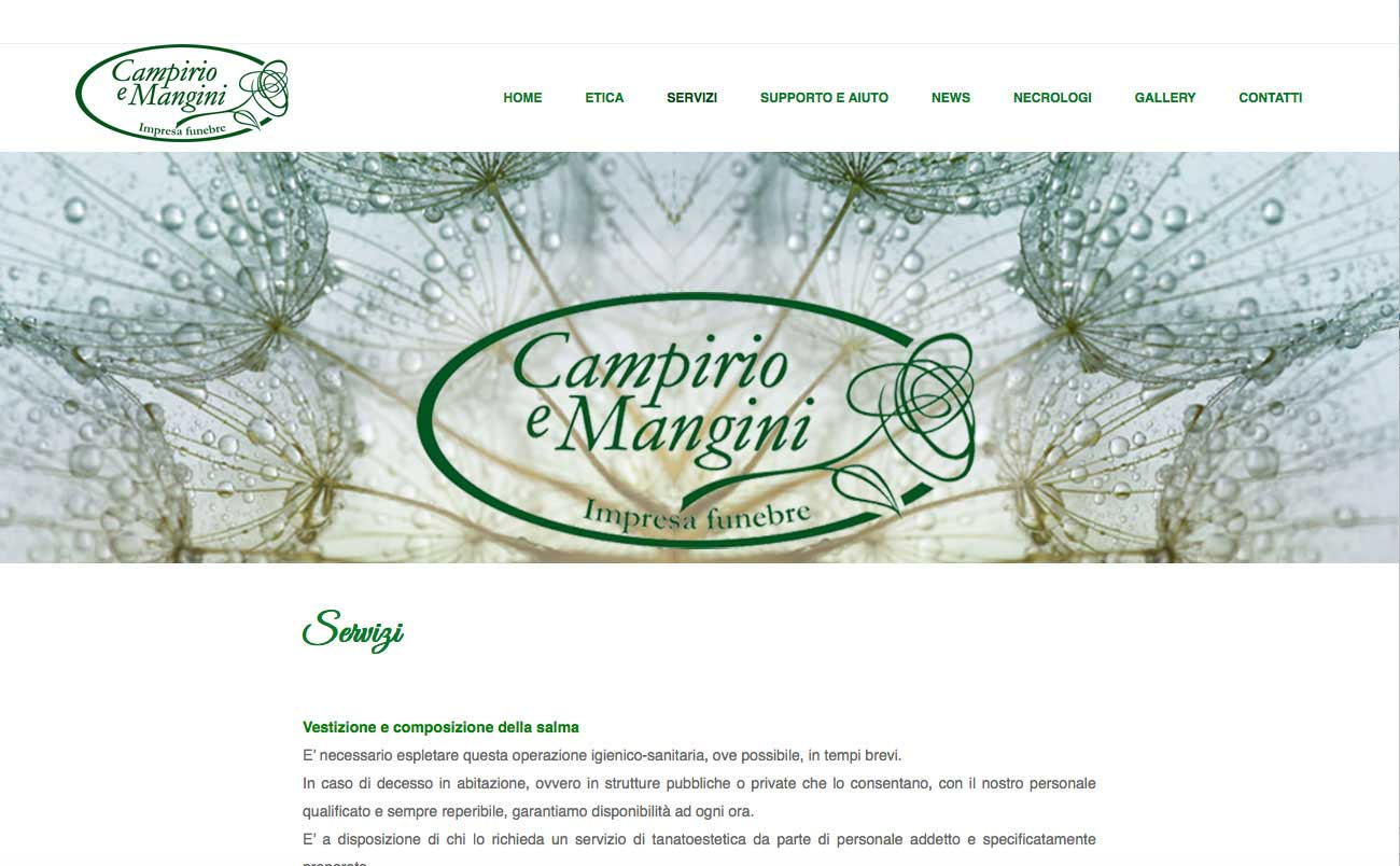 Tre Art web agency progetto Campirio e Mangini