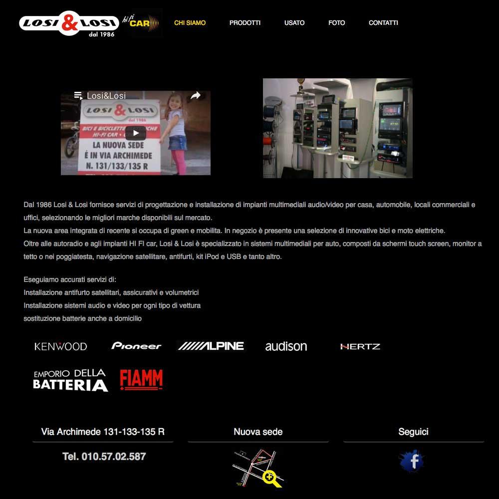 Tre Art web agency Progetto Losi e Losi
