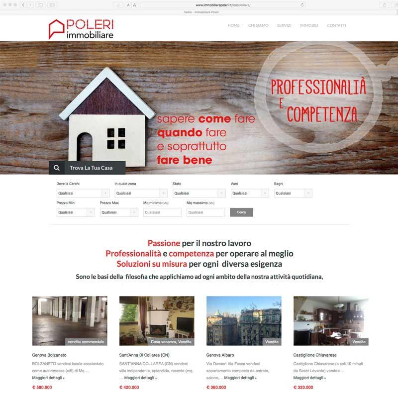 Tre Art web acency, sito web Poleri