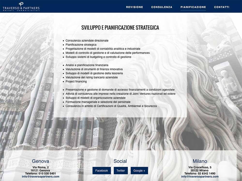 Tre Art web agency progetto Traverso e Partners