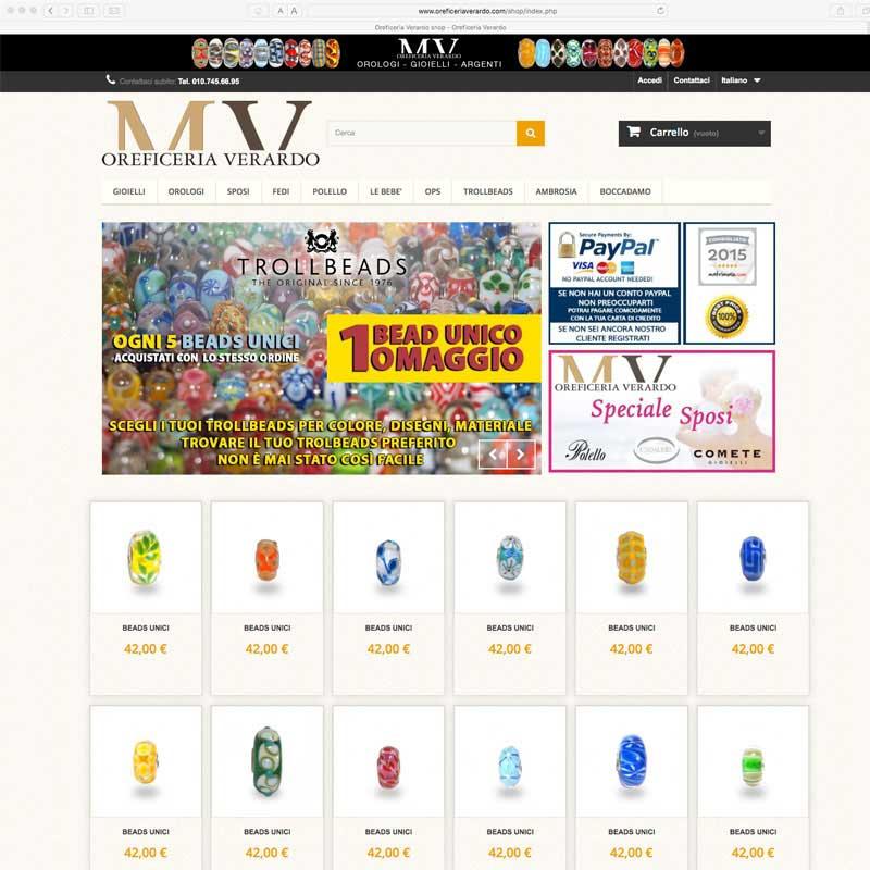 Tre Art web agency per Verardo oreficeria